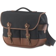 Billingham Eventer Camera/Laptop Bag Black Canvas/Tan Leather